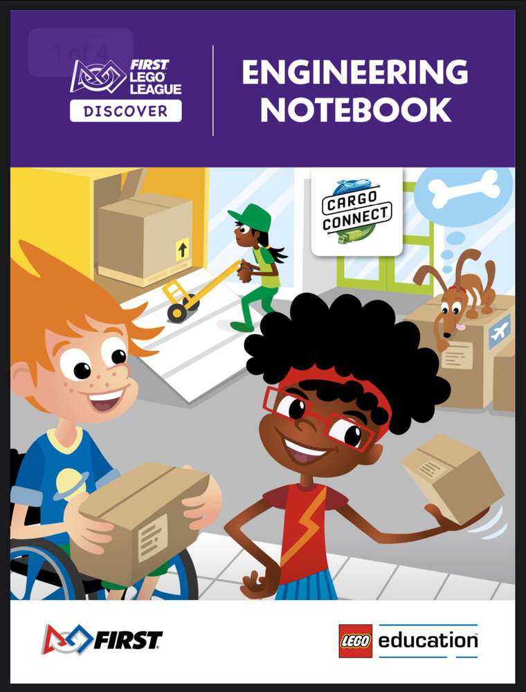 CARGO CONNECT Engineering Notebook (FLL Discover)