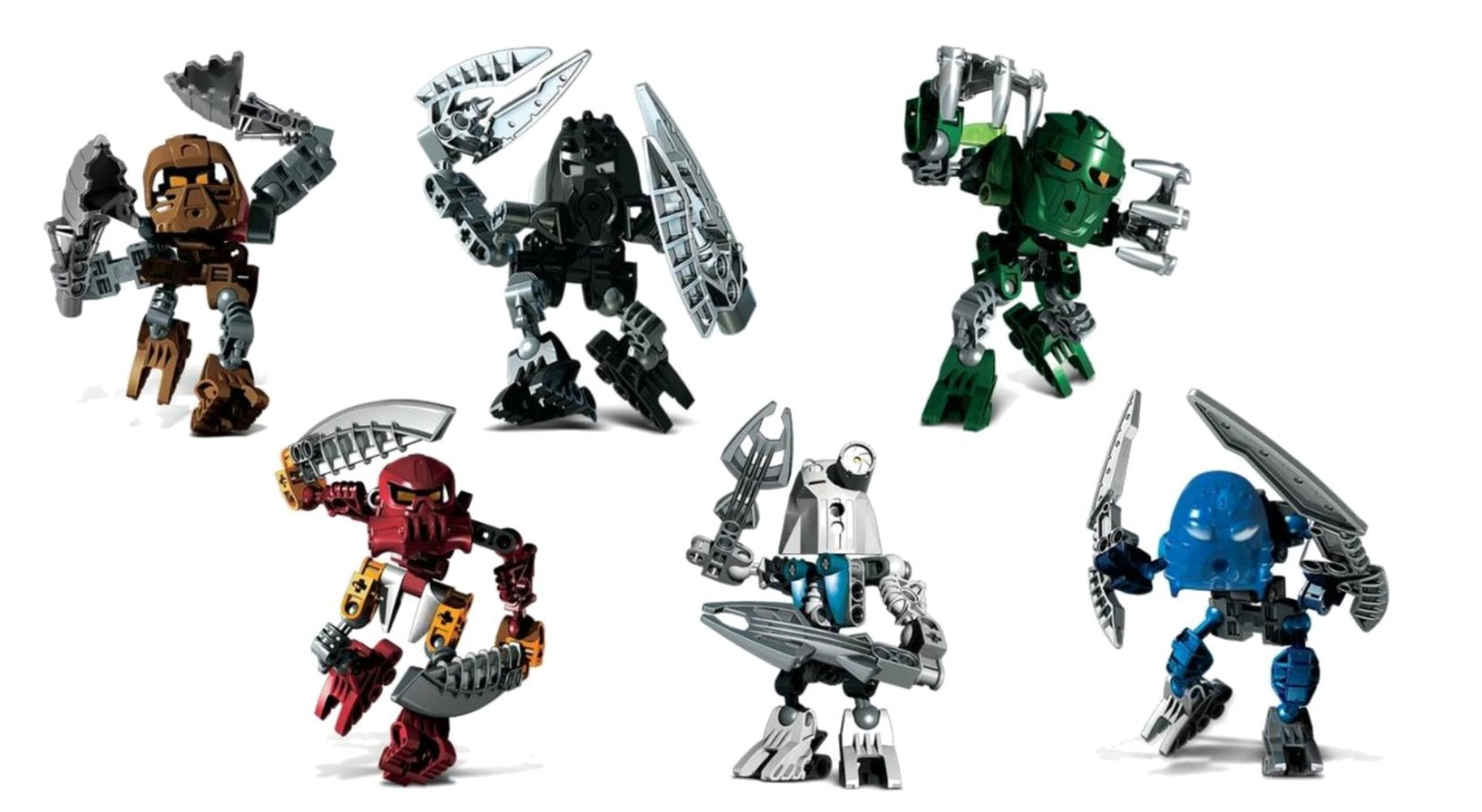 Matoran of Voya Nui Collection (8721 8722 8723 8724 8725 8726)