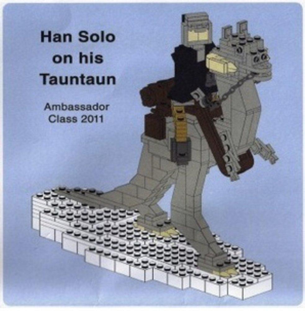 Han Solo on his Tauntaun