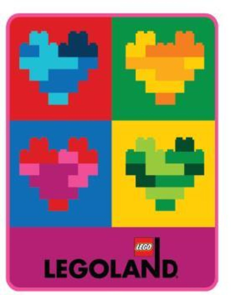 LEGOLAND Totally Bricks of the Heart Throw