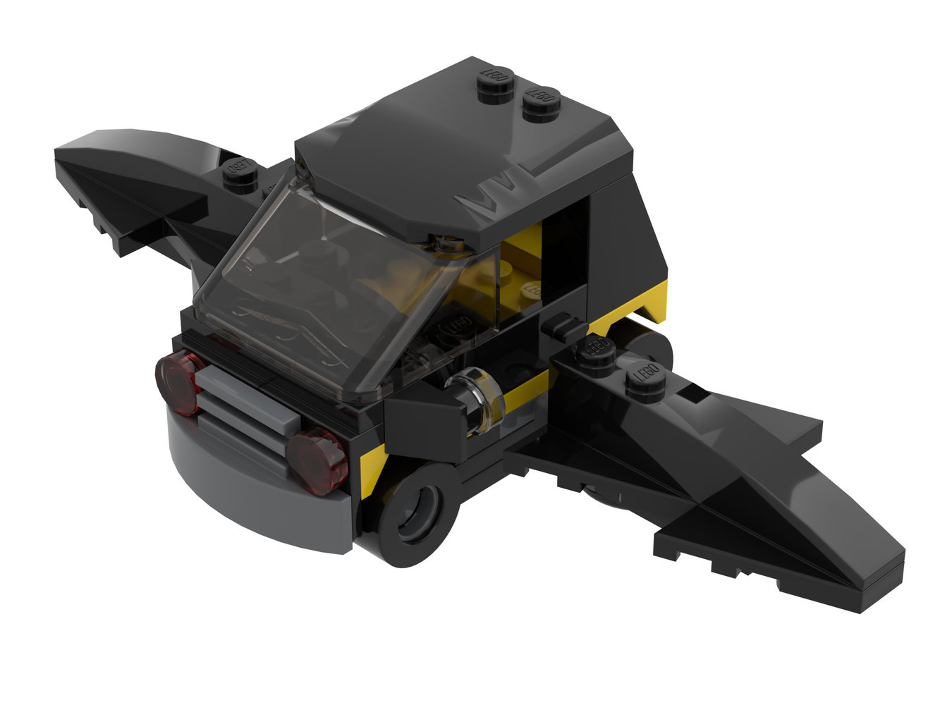 Flying Batmobile