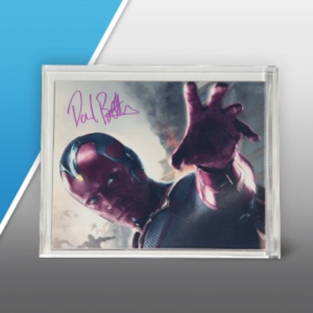 Vision Photo Signed by Paul Bettany