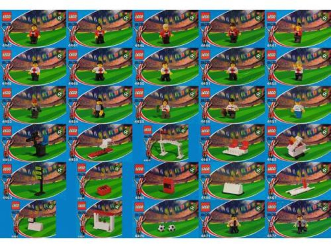 Japanese Coca-Cola Soccer collection sets 4443 thru 4472