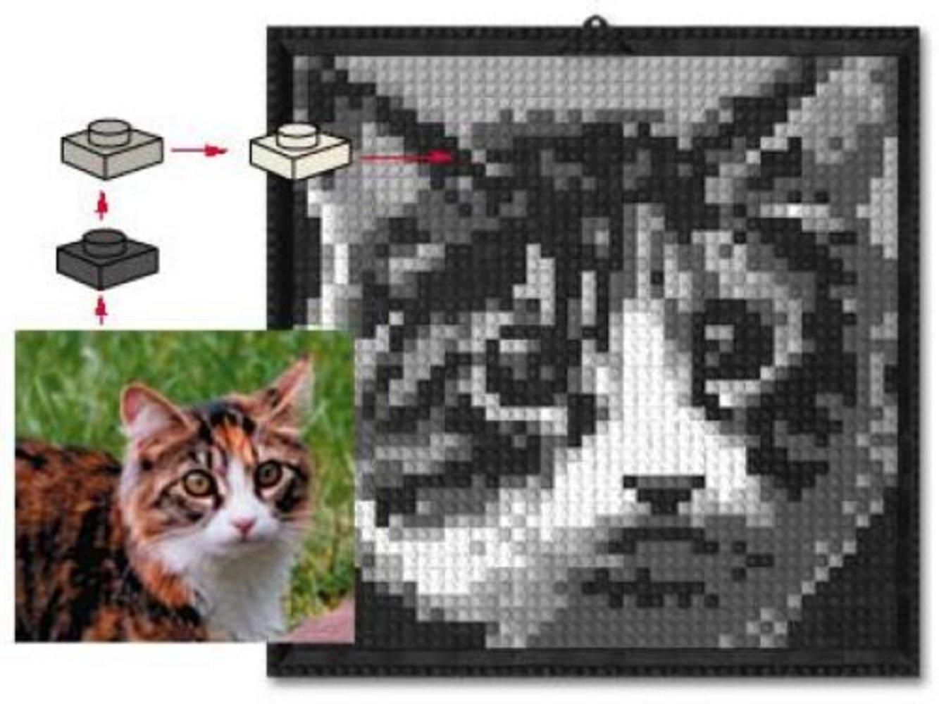 Lego Mosaic Cat
