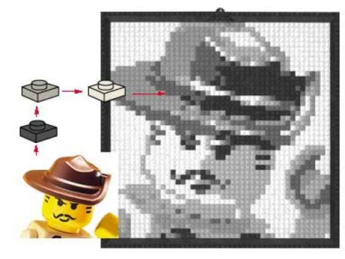 Lego Mosaic Johnny Thunder