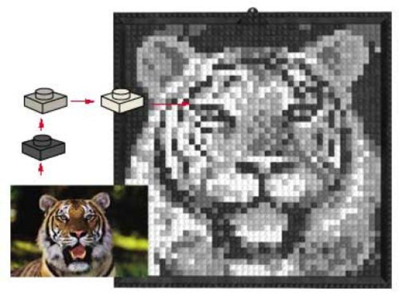 Lego Mosaic Tiger