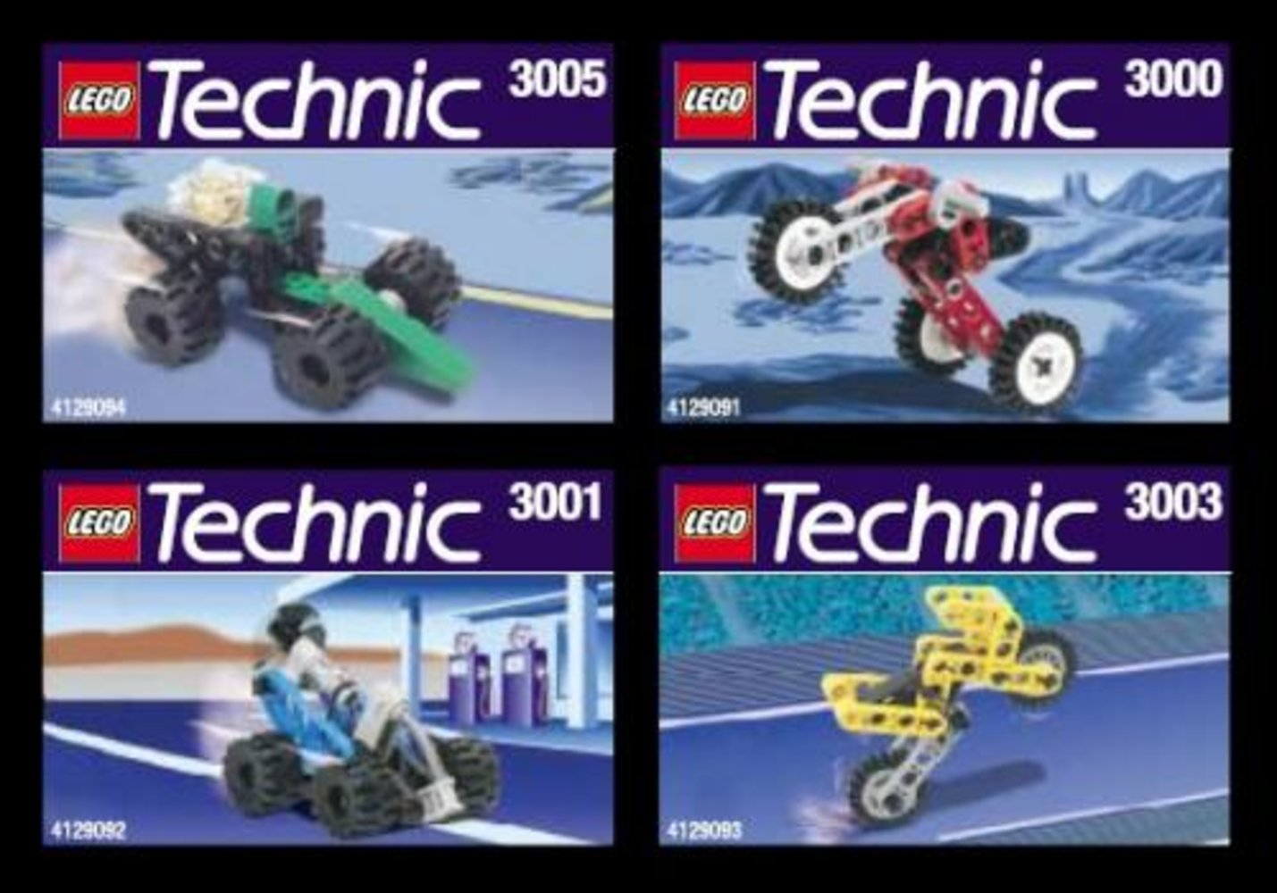 Kabaya Technic Vehicle 4-Pack
