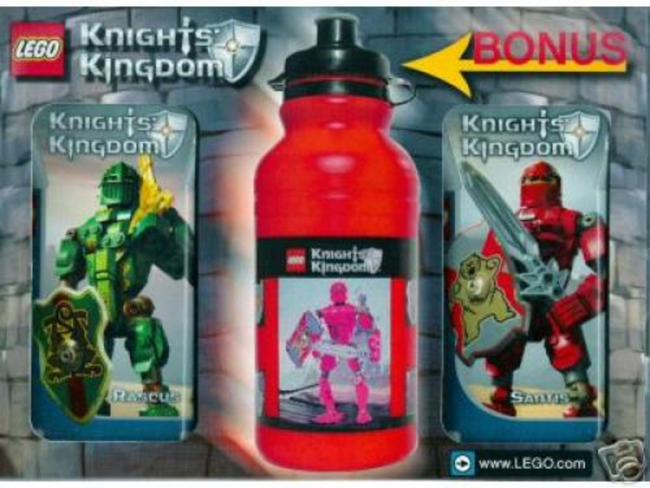 Knights' Kingdom Value Pack 3 (with bonus water bottle)
