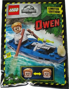 Lego Jurassic World 122007 Owen with Canoe