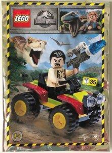 Lego Jurassic World 122009 Vic Hoskins with Buggy