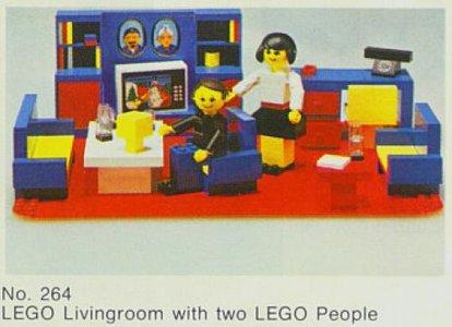 Lego Homemaker 264 Living Room Set
