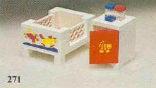 Lego Homemaker 271 Baby's Cot and Cabinet