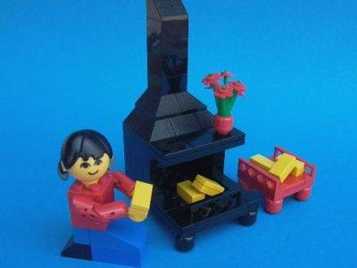 Lego Homemaker 277 Fireplace