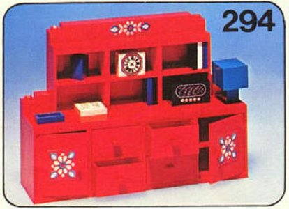 Lego Homemaker 294 Wall Unit