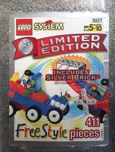 Lego Freestyle 3027 25th Anniversary Silver Bucket