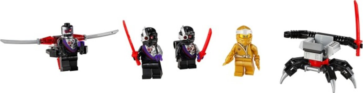 Lego Ninjago 40374 Golden Zane Minifigure Accessory Set
