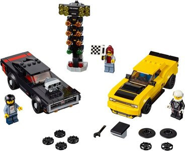 Lego Speed Champions 75893 2018 Dodge Challenger SRT Demon and 1970 Dodge Charger R/T
